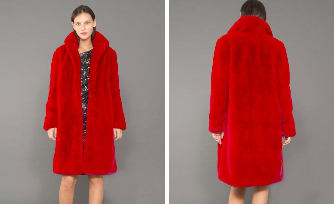 abrigo rojo pelo mejores abrigos